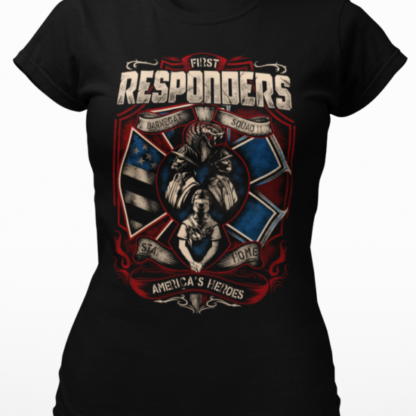 FIRST RESPONDERS Personalized T-Shirt, Adult Ladies